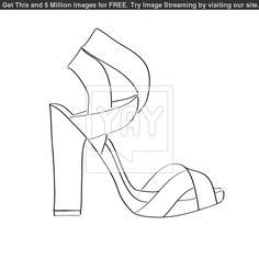 high heel shoe coloring page high heel shoe coloring page