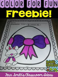 #FREE Printable in Download - Easter Fun! Color For Fun Printable Coloring Pages {32 coloring pages equals less than 10 cents a page.} #TPT #Easter #Spring $Paid