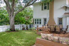 Outdoor Dining and Living under the Old Oak Tree