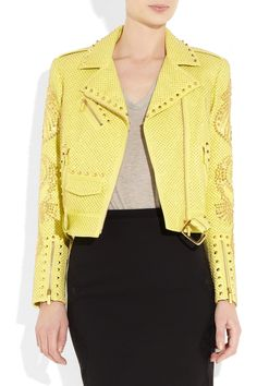 VERSACE  Studded leather biker jacket