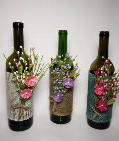 decoration for home Items similar to Custom hand painted/designed decorative wine bottle for centerpieces in home decor, vases, or to an extra touch of color in the room. on Etsy Glass Bottle Crafts, Wine Bottle Art, Painted Wine Bottles, Diy Bottle, Glass Bottles, Home Decor Vases, Wine Decor, Wine Bottle Centerpieces, Deco Floral