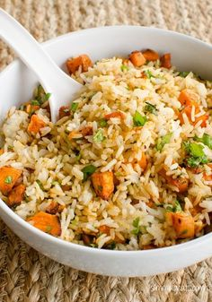 Roasted Butternut Squash Rice | Slimming Eats - Slimming World Recipes