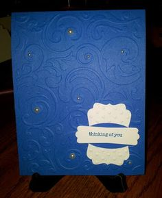Sheryl's Crafting Corner - Simple layered card to allow for the embossing to be the main focus