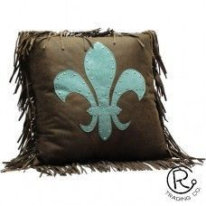 Turquoise Tooled Pillow