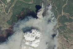 Funny River Fire, Alaska : Image of the Day : NASA Earth Observatory