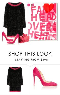 """""""Untitled #7391"""" by tailichuns ❤ liked on Polyvore featuring Kate Spade, Boutique Moschino and Christian Louboutin"""