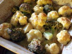 Kahden kaalin gratiini Cauliflower, Vegetables, Food, Cauliflowers, Essen, Vegetable Recipes, Meals, Cucumber, Yemek