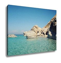 Ashley Canvas, Calm Blue Sea And Rocks Aged Photo Small Island Near Adrasan Vintage Effect, Wall Art Home Decor, Ready to Hang, -- Check out the image by visiting the link. (This is an affiliate link) Small Island, Kitchen Island, Rocks, Image Link, Calm, Sea, Wall Art, Canvas, Water