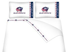 ATHLEZ - Columbus Blue Jackets Micro Fiber Sheet Set Queen
