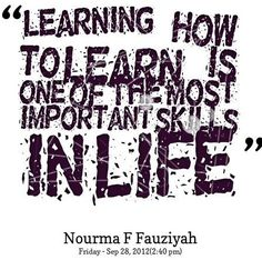 Learning quote via www.Facebook.com/SkillShare