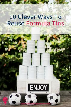 Don't throw away your old formula tins, reuse them like this! Ideas for the garden, the kitchen, the lounge, kids bedrooms and more!