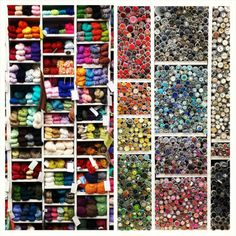 Yarn and buttons for days!  (at ImagiKnit)
