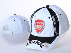 Arsenal white cap  Select the high quality ang low price English Premier League in our Arsenal Caps. Football shirts sale are all high quality made to keep excellent ventilation.  Quick dry fabric provides excellent ventilation.  Lightweight, breathable and comfort.  Machine wash cold, hang to dry.  Officially licensed  Price:$20.69 New Football Shirts, English Premier League, White Caps, Shirt Sale, Quick Dry, Arsenal, Baseball Hats, Cold, Fabric