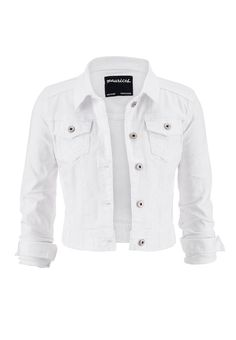white denim jacket with pockets