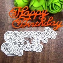 New DIY Metal Cutting Dies Happy Birthday Embossing Stencil Craft Dies For Cards Album Book Scrapbooking(China (Mainland))