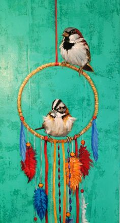 Bird Wall Decals, Modern Art, Contemporary, Angel Art, Gold Paint, Shabby Chic Furniture, Bird Art, Beautiful Birds, Acrylics