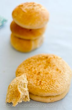 Pan de coco (Coconut bread)...replace the wheat flour with a GF flour blend and coconut flour and these would be amazing!