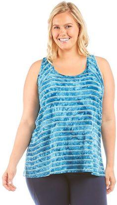 Balance Collection Plus Size Balance Collection Avery Tie-Dye Striped Tank