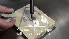 Fill gaps in solder inlay