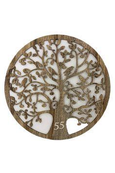 """Lebensbaum  Baum des Lebens  aus Holz (55 Gewünschte Zahl) Graviert für Grburtstag-""""Symbol der Kosmischen Ordnung"""" Wanddeko Holzdeko Wandbild Dekoration Deko Geschenk für Geburtstag Hochzeit Muttertag"""
