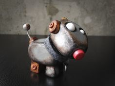 Tiny Robot Factory Arf Beep - Sculpted Dog-Bot. $60.00, via Etsy.