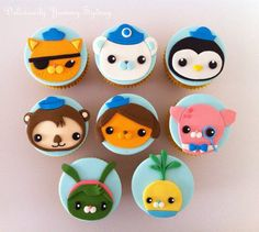 Octonauts cupcake toppers