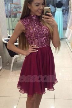 2016 Real Beauty Handmade Beading Short Homecoming Dresses For Teens,High Neck Cute Graduation Dresses http://www.luulla.com/product/596398/2016-real-beauty-handmade-beading-short-homecoming-dresses-forteens-high-neck-cute-graduation-dresses