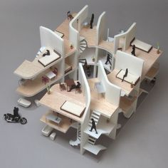 architecture - Modern curves Japanese apartment shapes up to please bike enthusiasts Japanese Architecture, Architecture Drawings, Landscape Architecture, Interior Architecture, Building Architecture, Computer Architecture, Pavilion Architecture, Concept Architecture, Amazing Architecture