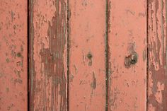 Peeling Red Paint on Old Wooden Boards