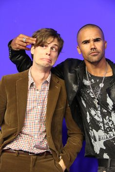 Matthew Gray Gubler and Shemar Moore. <3 @Maureen Mitchell-marisa Tenorio @Rachael E Palomino