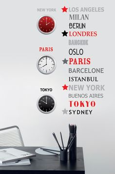 Collection : TRENDY STICKERS 2 / Megapolis #Stickers #decoration #sticker #interieur #papierpeint #Caselio www.caselio.fr
