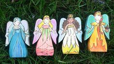 4 Jahreszeiten Fairy Queens einzeln aufgeführt von TansyDolls