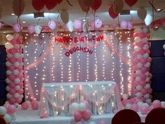 Birthday Decoration Ideas For Girlfriend Bday Decoration At Home, Husband Birthday Decorations, Princess Birthday Party Decorations, Birthday Parties, Fairy Birthday, Birthday Ideas, Baby Shower Balloons, Birthday Balloons, Cradle Ceremony