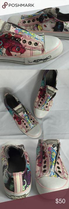 Spotted while shopping on Poshmark: Ed Hardy Slip on Sneakers Size 8! #poshmark #fashion #shopping #style #Ed Hardy #Shoes
