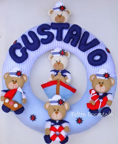 Um blog desenvolvido para divulgar meus trabalhos artesanais em feltro. Fique a vontade para visitar o blog.  Aline  Feltro Encantado Bear Felt, Felt Crafts, Projects To Try, Photo Wall, Baby Shower, Christmas Ornaments, Holiday Decor, Home Decor, Manish