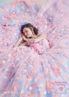 When pink meets blue, the result of this Kiyoko Hata pastel gown is pure romance! Ball Dresses, Ball Gowns, Pretty Dresses, Beautiful Dresses, Beautiful Dream, Creative Fashion Photography, Fantasy Gowns, Quinceanera Dresses, Dream Dress