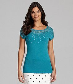 Alex Marie Nicole Sequin Top #Dillards hailey
