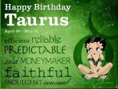 Happy BirthDay Taurus, Betty Boop Taurus Betty Boop Birthday, Happy Birthday, Taurus, Faith, Happy Brithday, Urari La Multi Ani, Happy Birthday Funny, Loyalty, Ox