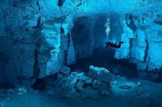Worlds largest underwater gypsum cave. Orda Cave, Russia. Would love to scuba there
