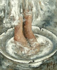 Art Painting by Maria Magdalena Oosthuizen includes Voetewas Washing feet, this example of Contemporary Art has inspired this exceptionally talented artist. View other Paintings by Maria Magdalena Oosthuizen in our Online Art Gallery. Prophetic Art, South African Artists, Affordable Art, Christian Art, Native American Art, Online Art Gallery, Painting Inspiration, Folk Art, Malm