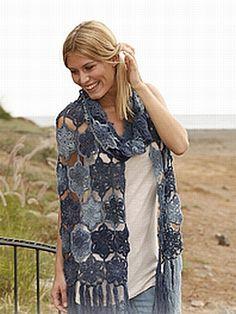 crochet pattern - dreamcatcher scarf