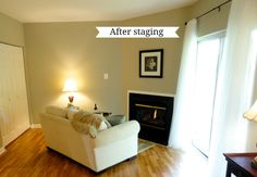 Rachel's Nest: Staging our home - part 2 Declutter Home, Decluttering, Sell House Fast, Home Staging Tips, Condo Remodel, Home Fix, Decorating Blogs, Home Improvement Projects, Interior Design Living Room
