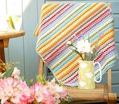 Boy Crochet Blanket, PDF Patterns, Baby Afghan, Adult Throw, Beginner Crochet, Toddler Blanket, Drops Muskat, Double Knit, Cotton Yarn