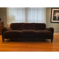 Modern Schumacher Mohair Three Seat Sofa / 2 Available | Chairish Vintage Furniture, Home Furniture, Schumacher, Modern Sofa, Seat Cushions, Sofas, Art Deco, Couch, Interior