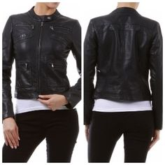 Fitted Faux Leather Jacket $60 available in sizes 1X, 2X, 3X at www.rethajeanette.com