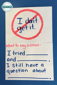 """Tips for the students who say """"I Don't Get it."""" Can be so frustrating! It's so important to teach a growth mindset."""