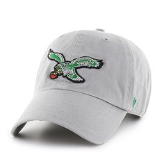 detailed look a4608 7e4cf Philadelphia Eagles Clean Up Gray 47 Brand Adjustable Hat
