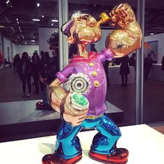 Jeff Koons retrospective at Pompidou Center in Paris. Contemporary art. Popeye the Sailor.