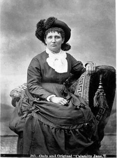 "Martha Jane Cannary, aka Calamity Jane, posing in ""the uniform of my sex."" Story at link."