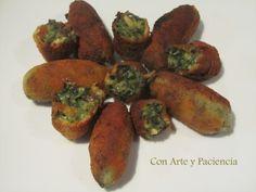 Croquetas de espinacas con piñones y pasas | Cocinar en casa es facilisimo.com